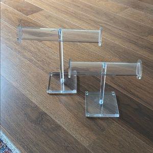Set of 2 acrylic jewelry holders